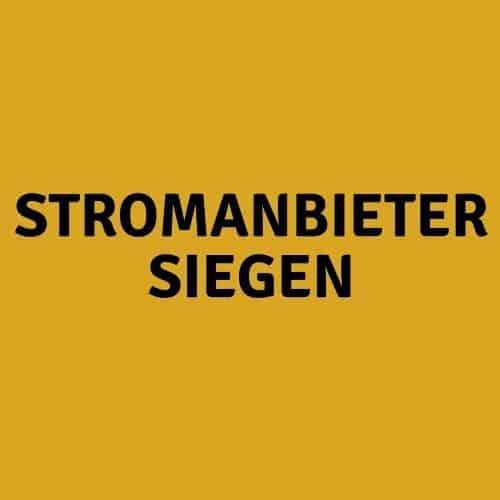 Stromanbieter Siegen