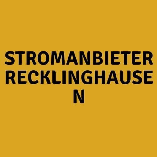 Stromanbieter Recklinghausen